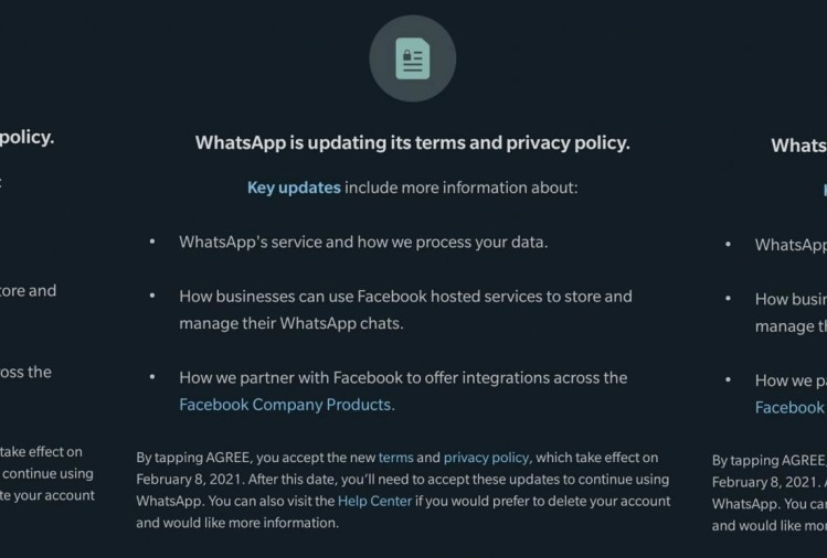 Whatsapp updated privacy policies